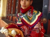 Thimphu Festival, Tsechu, dancer preparing to perform