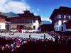 Thimphu Festival, Tsechu, panorama of Tashichoedzong