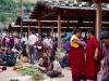 Thimphu Sunday Market, Monks shopping