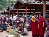 Thimphu Sunday Market, Monks shopping