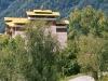 Monks walking from Tongsa Dzong, Tongsa