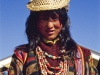 Young woman of the Laya minority in constume, Laya