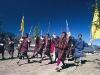 Archery, national sport, Men dance in celebration of a win