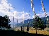 Prayer Flags, Paro Valley and farmlands
