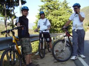 Biking to Thimphu