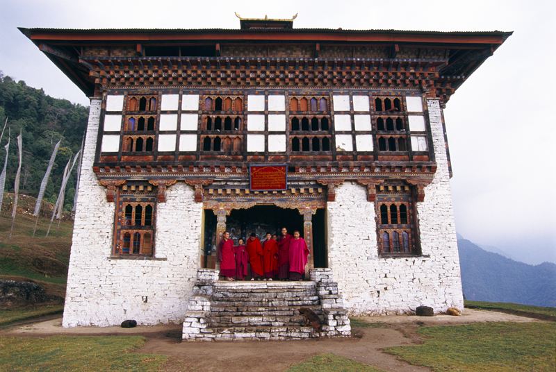 Young Monks at school, Mongar