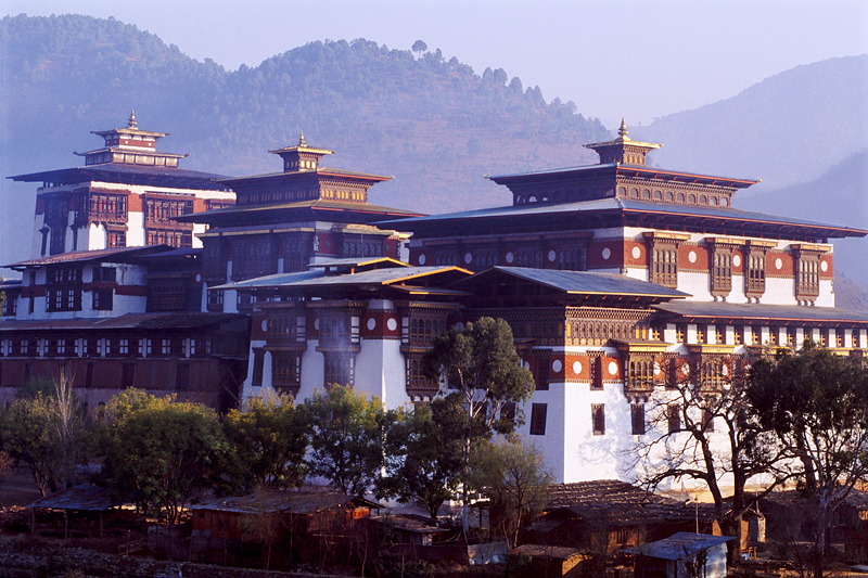 Morning light, Punakha Dzong, Punakha